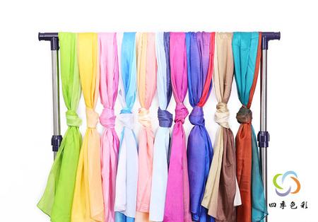 色彩鉴定季型造型丝巾